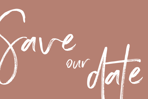 Stoere inkt marker save our date kaart